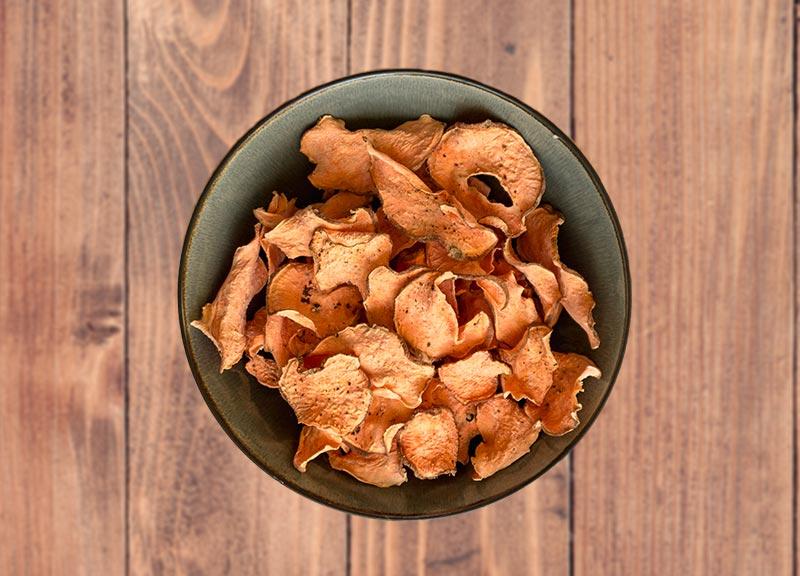 Süßkartoffelchips selbst gedörrt