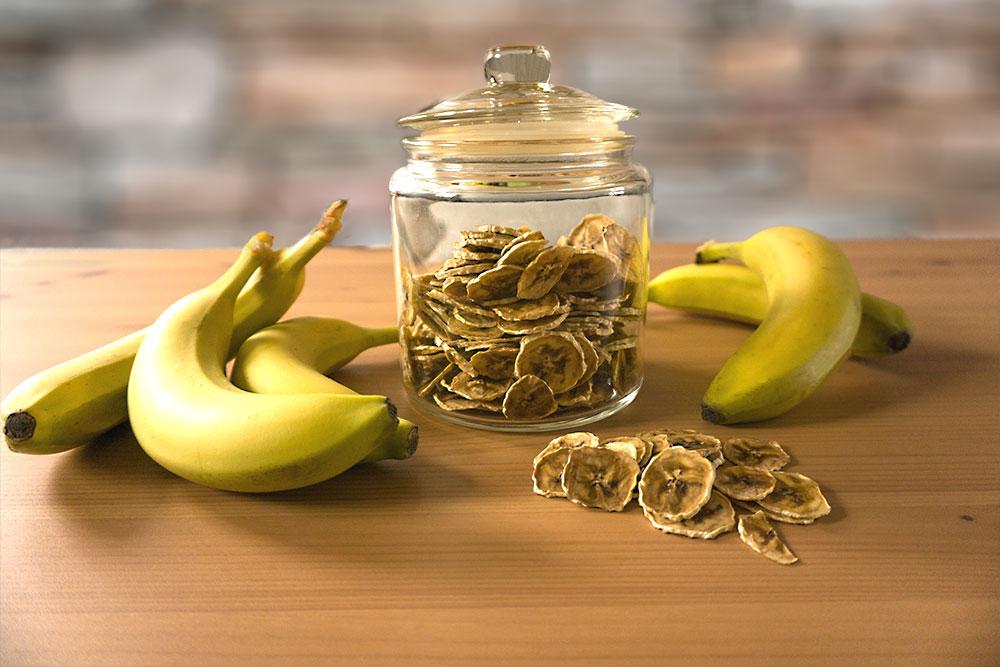 Bananenchips selbst gedoerrt