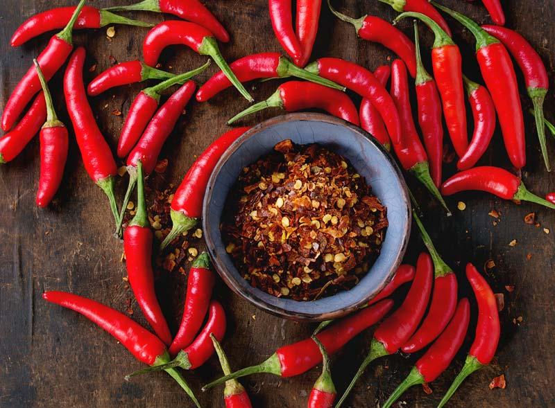chili-getrocknet-pulver-frisch
