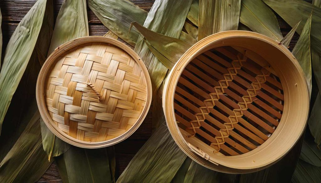Dampfgarer aus Bambus