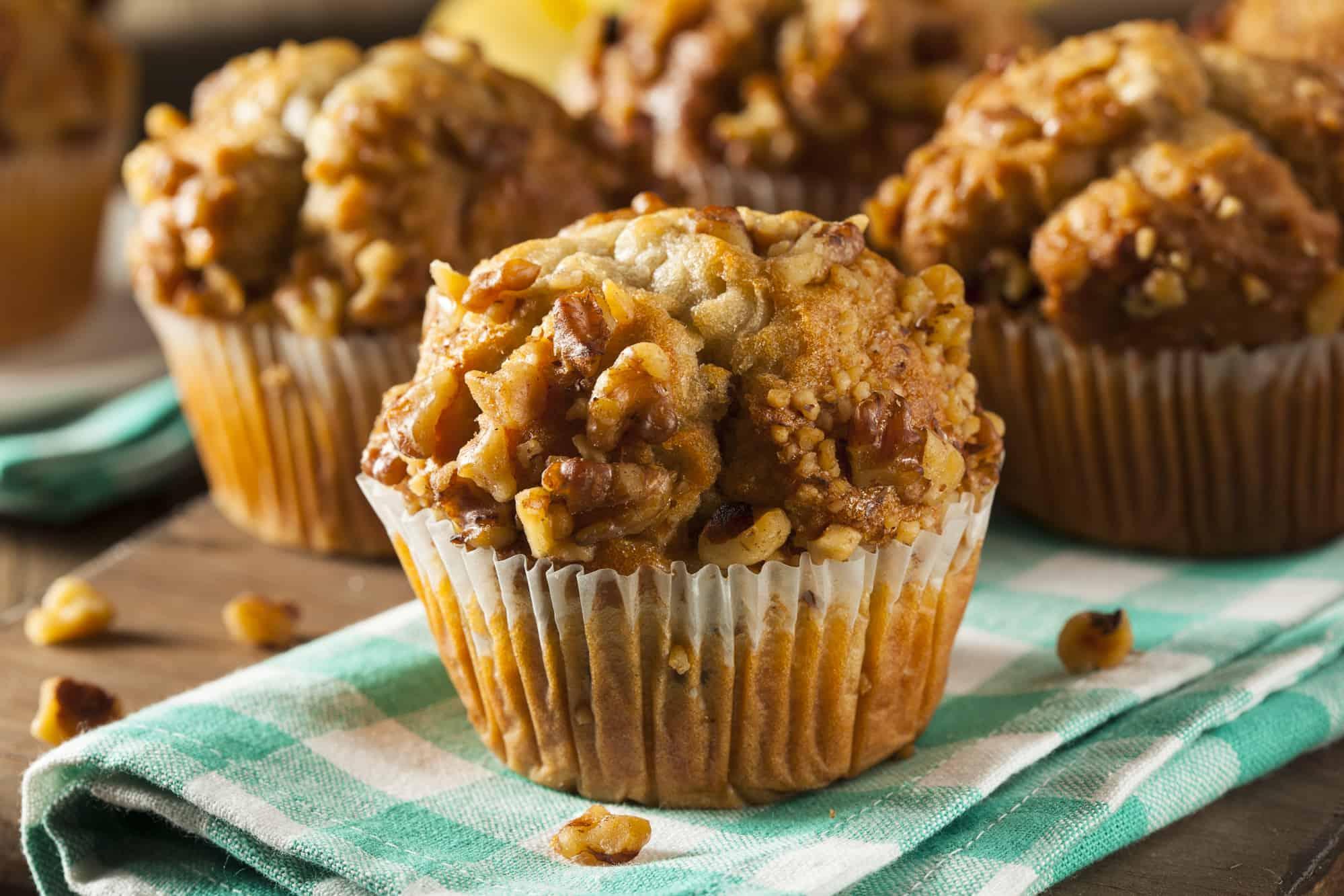 Low Carb Bananen Nuss Muffins
