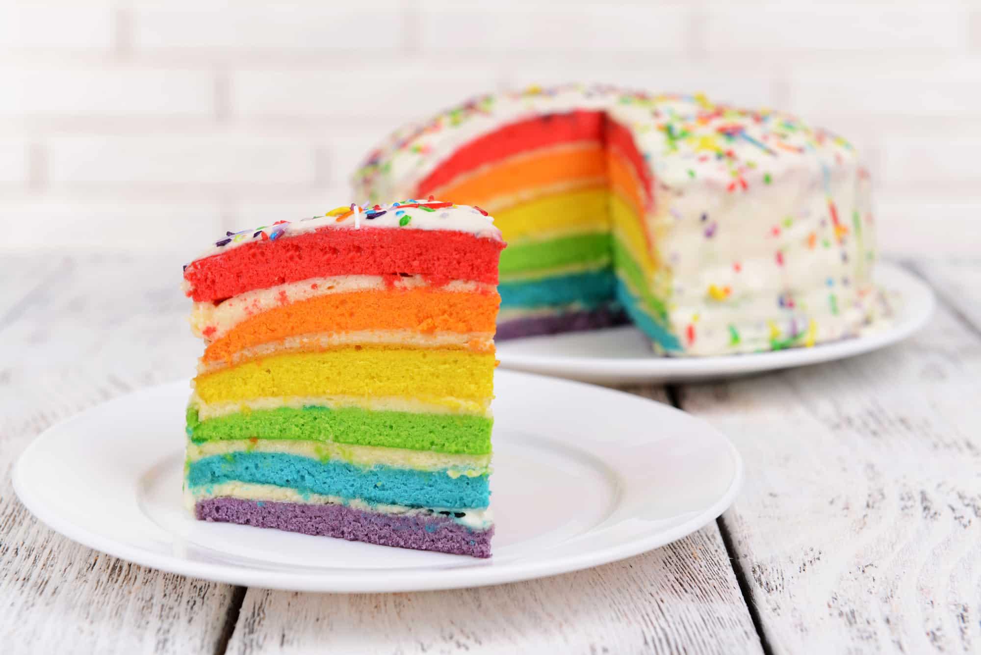 Leckerer Low carb Regenbogenkuchen