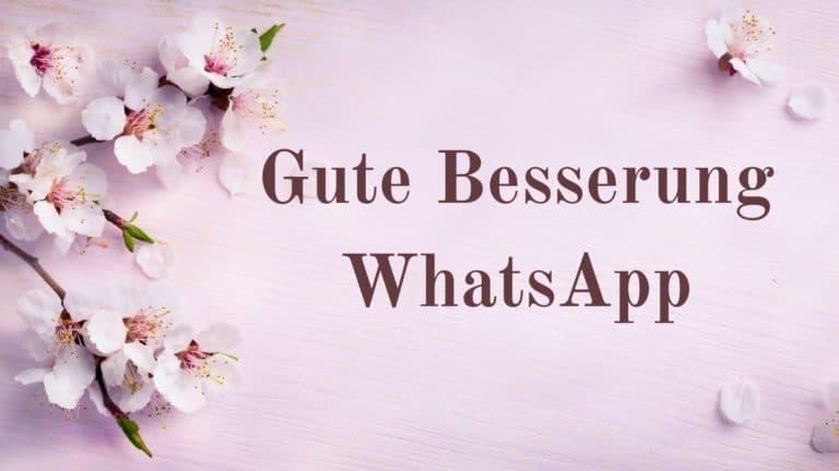 Gute Besserung WhatsApp