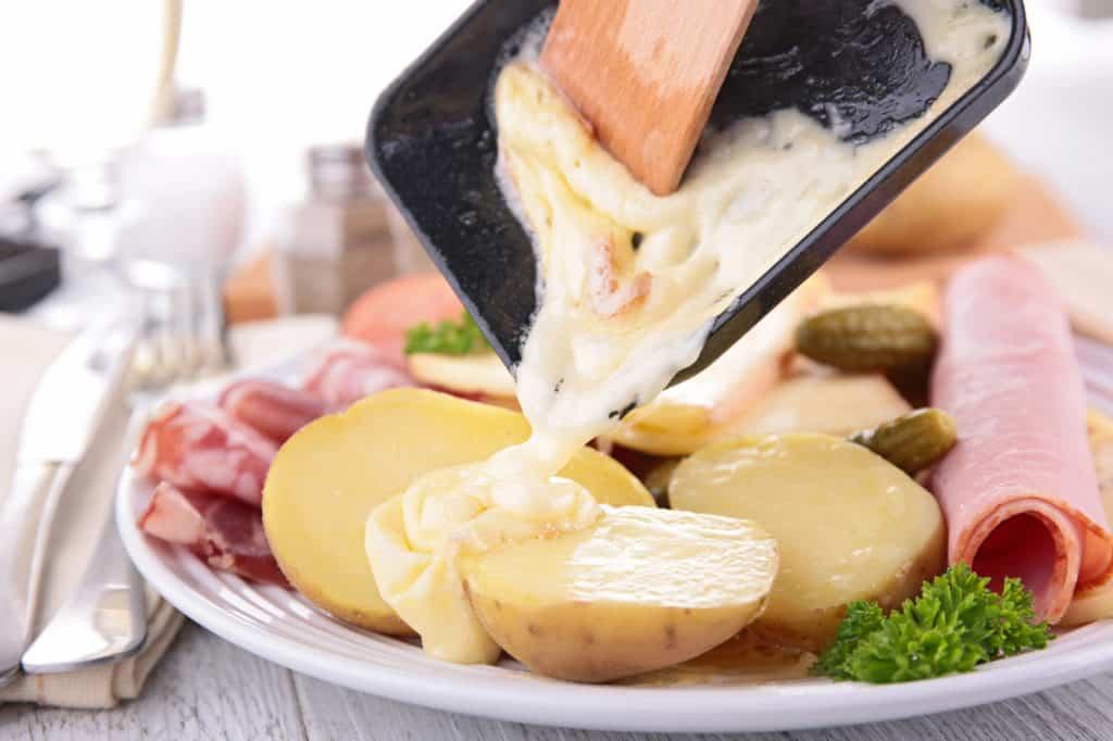 Geschmolzener Raclettekäse